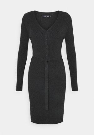 PCFRENCH NECK KNIT DRESS  - Neulemekko - dark grey melange