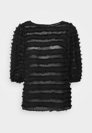 SLEEVE TASSEL  - Blusa - black