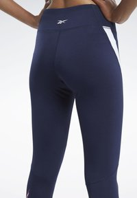 Reebok - WORKOUT READY VECTOR LEGGINGS - Tights - blue - 5