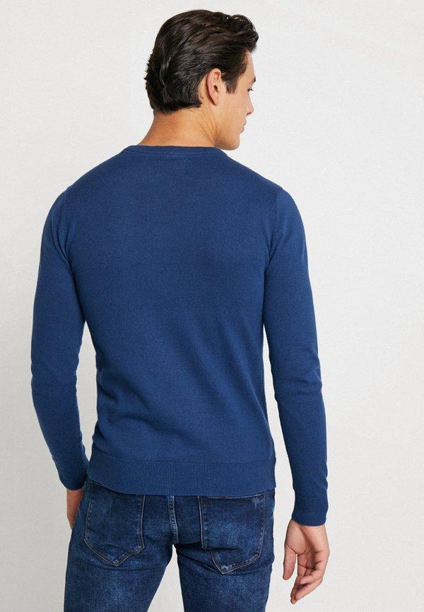 Petrol Industries RUNDHALS - Sweter - petrol blue/niebieski Odzież Męska WUBQ