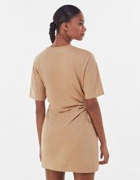 Bershka - Jersey dress - beige - 2