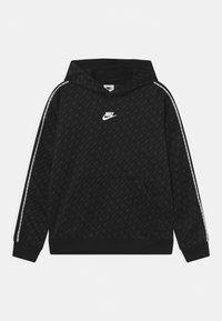 Nike Sportswear - REPEAT HOODIE - Collegepaita - black/dark smoke grey/white - 0