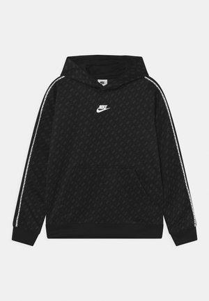 REPEAT HOODIE - Sweater - black/dark smoke grey/white