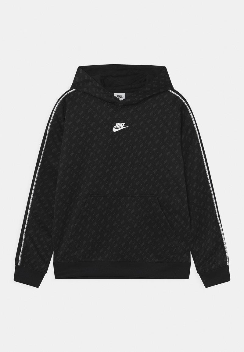 Nike Sportswear - REPEAT HOODIE - Collegepaita - black/dark smoke grey/white