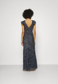 Maya Deluxe - ALL OVER SEQUIN WITH FLUTTER SLEEVE - Iltapuku - navy - 2