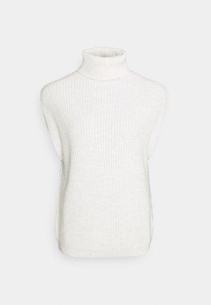 HIGH NECK VEST - Trui - white