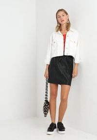 ONLY - Leather skirt - black - 2