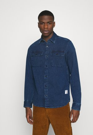 JJ30CPO - Camicia - dark blue denim