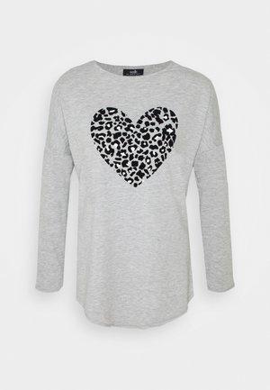 FLOCK HEART LONG SLEEVE TEE - Long sleeved top - grey