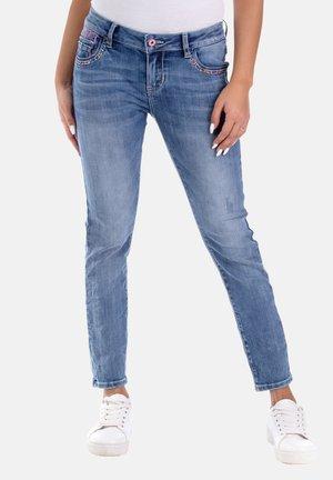MIT STICKEREI - Jeans Skinny Fit - blau
