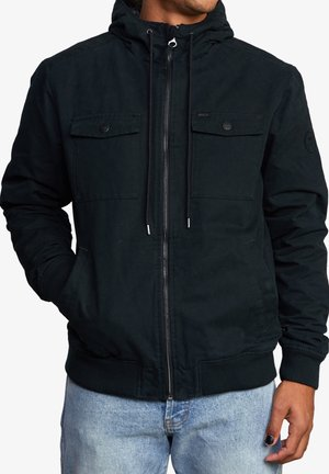 Waterproof jacket - rvca black