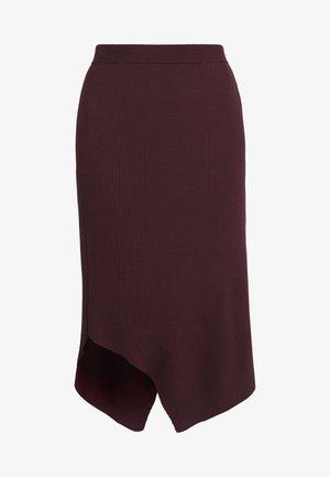 ALVIN LAYER SKIRT - Áčková sukně - rouge noir