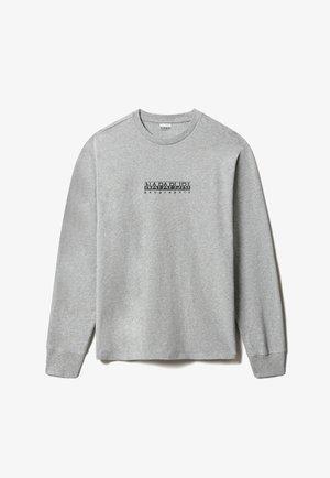 S-BOX LS - Camiseta de manga larga - medium grey melange