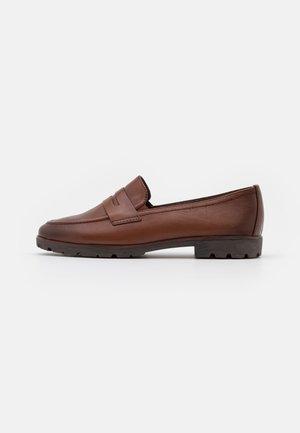 Nazouvací boty - cognac