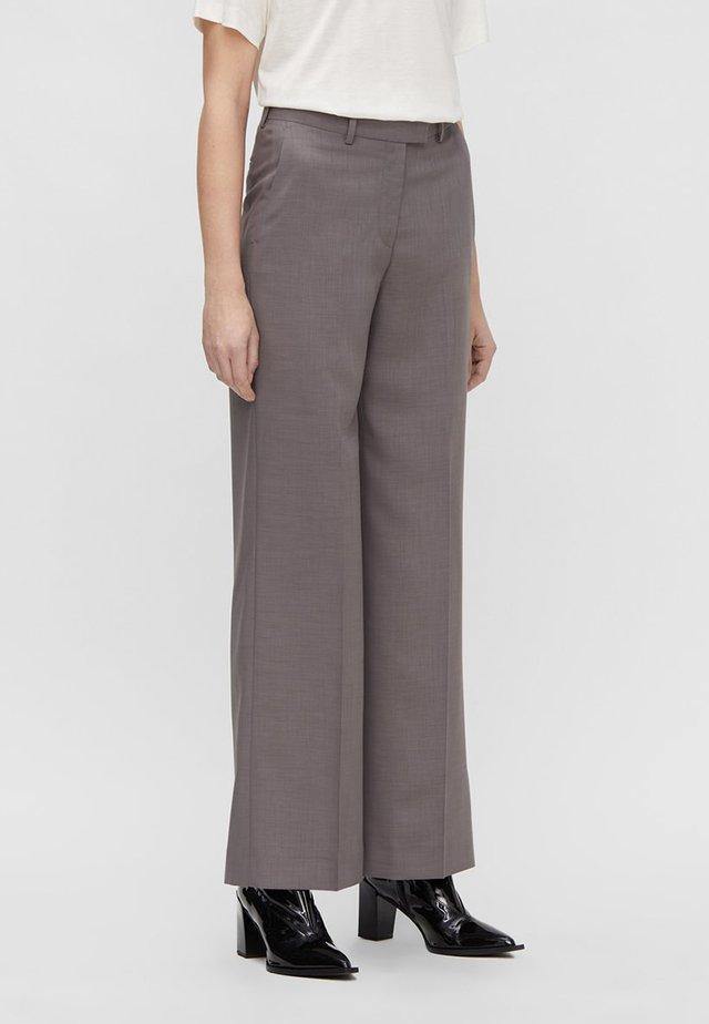 J.LIN KORI MELANGE - Trousers - melrey crosshatch