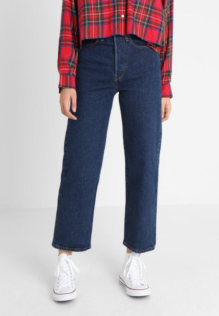 Levi's® - RIBCAGE STRAIGHT ANKLE - Straight leg jeans - blue denim