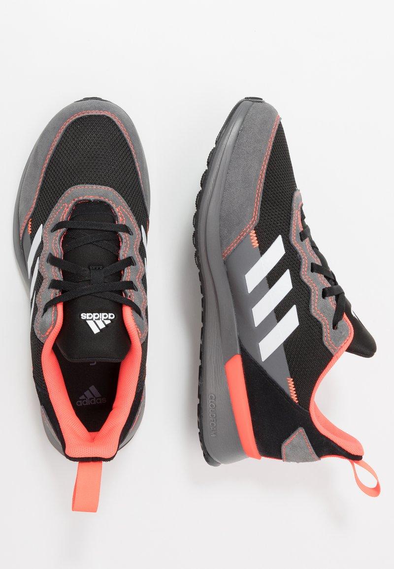 adidas Performance - RAPIDARUN ELITE - Hardloopschoenen neutraal - core black/footwear white/solar red