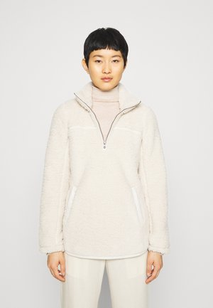 TRIM SHERPA ZIP - Fleecepullover - cream