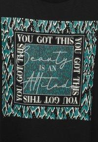 Street One - MIT PARTPRINT - Print T-shirt - schwarz - 3
