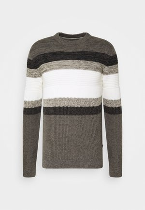 ONSLAZLO STRIPED - Jumper - medium grey melange