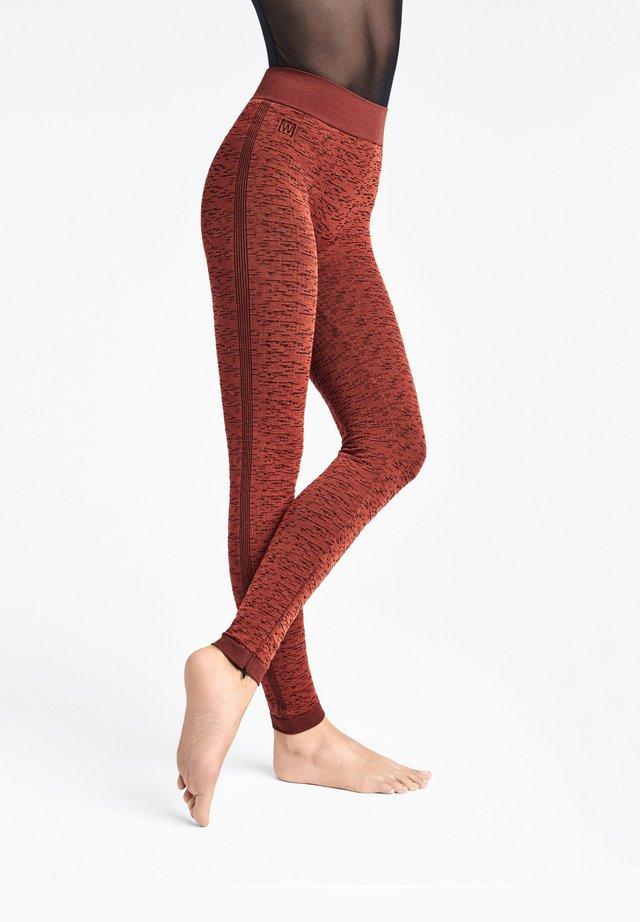 ARROW POISON - Leggings - red rust/black