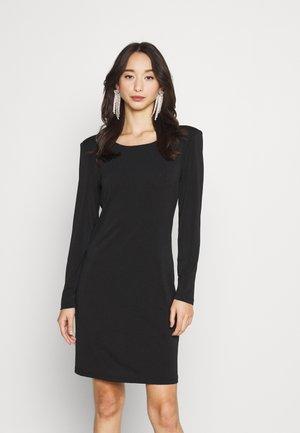 VIBORNEO SHOULDER PAD DRESS - Vestido ligero - black