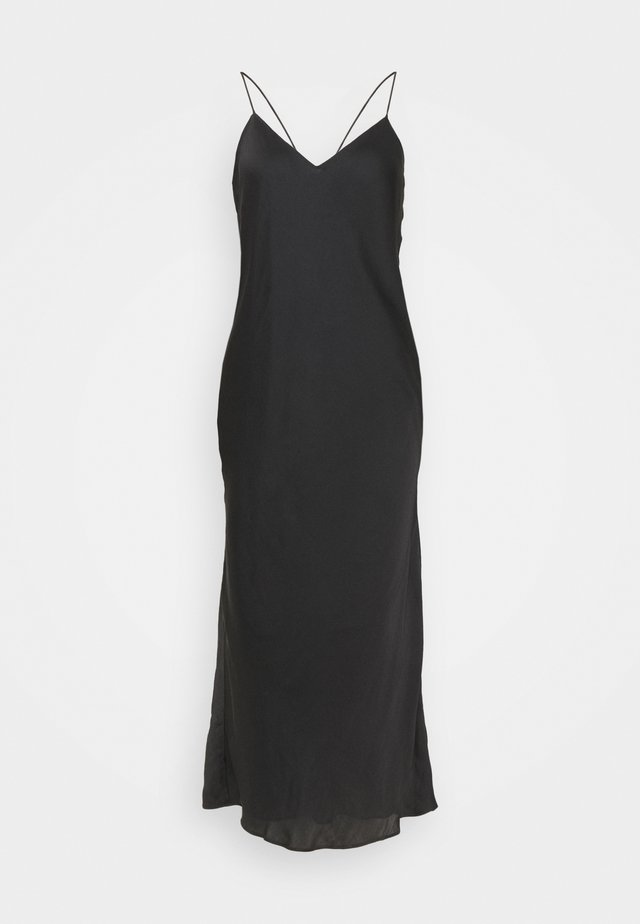STRAPPY BIAS MIDI SLIP - Cocktailjurk - black