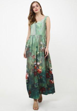 Maxi dress - olive, pink