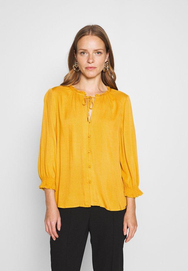 Button-down blouse - golden yellow