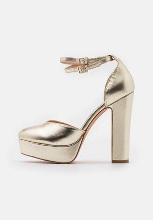 Høye hæler - gold