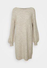 Vero Moda - VMLEFILE BALLOON BOATNECK DRESS - Strikket kjole - birch melange - 0