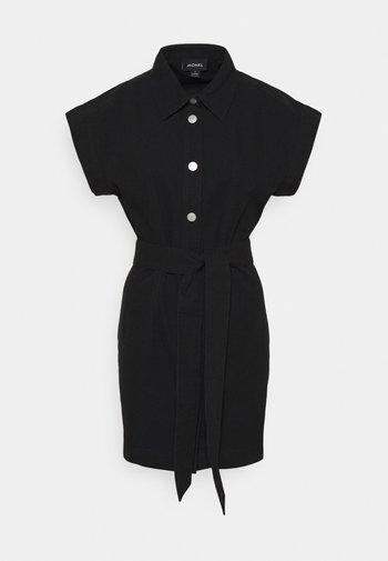 LINN DRESS - Skjortekjole - black dark