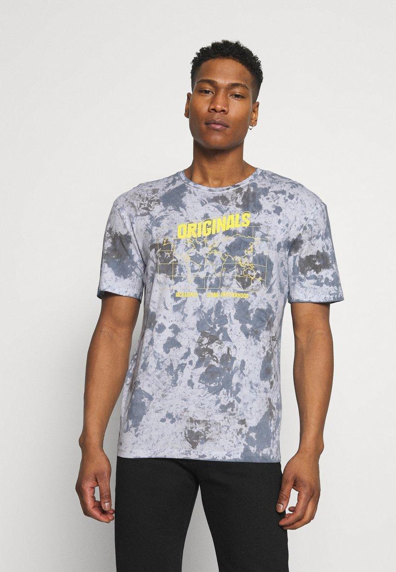 Jack & Jones - JORAZIEL TEE CREW NECK - Print T-shirt - navy blazer