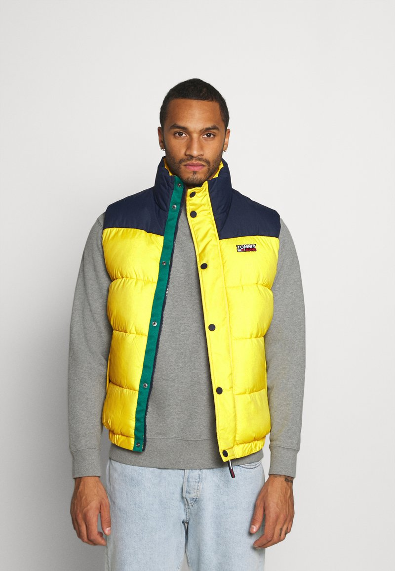 Tommy Jeans - CORP VEST - Waistcoat - valley yellow