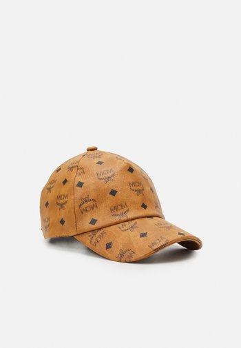 CLASSIC CAP IN VISETOS - Cap - cognac