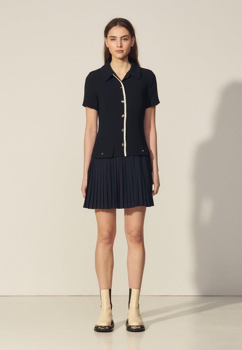sandro - ALBERTA - Shirt dress - marine