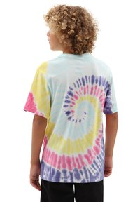 Vans - BY TIE DYE EASY BOX TEE BOYS - Print T-shirt - rainbow (spectrum)tie dye - 1