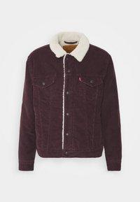 TYPE 3 SHERPA TRUCKER - Denim jacket - bordeaux, dark