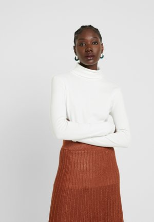 COCO ROLL NECK - Long sleeved top - white