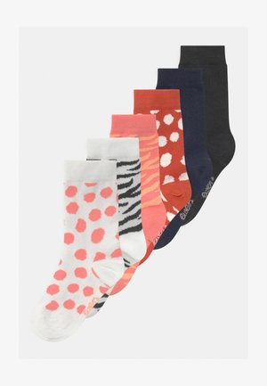 DOTS STRIPES LION 6 PACK - Strømper - kupfer/off-white