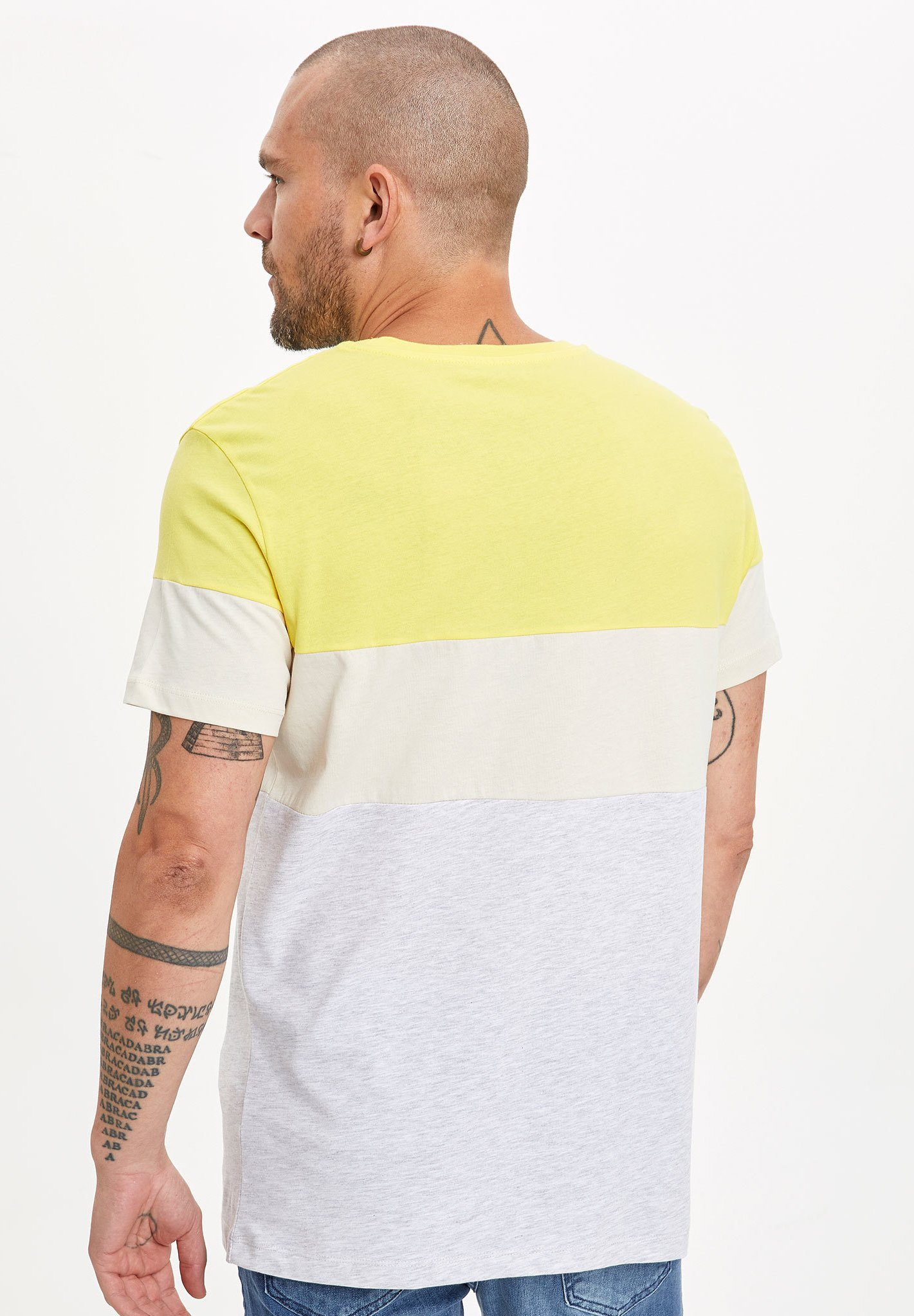 DeFacto Print T-shirt - yellow dpEKk