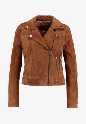 VMROYCESALON JACKET - Leather jacket - cognac