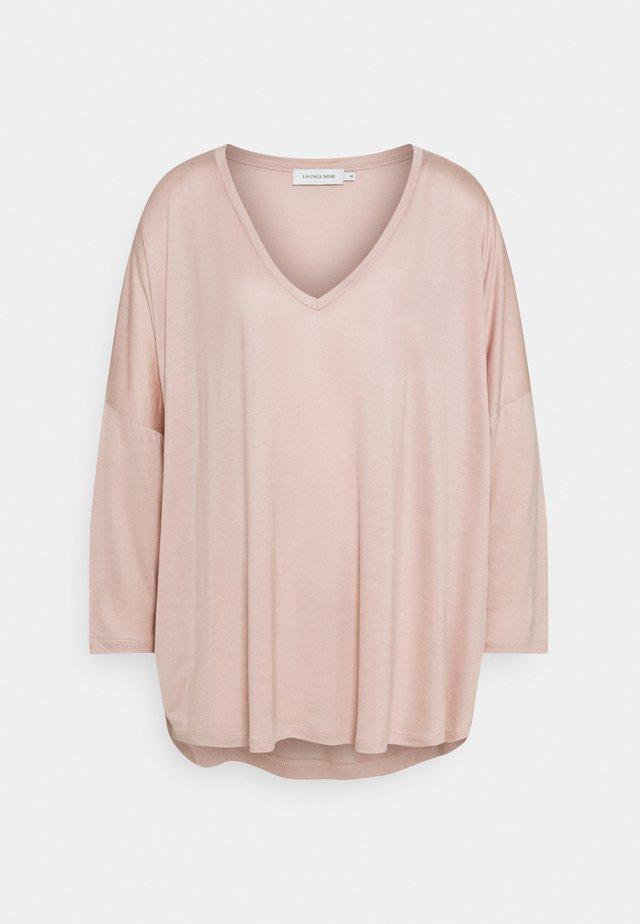 LNMIGNON V-NECK  - T-shirt à manches longues - shadow gray