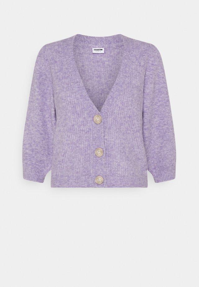 NMLILJE V NECK CARDIGAN - Cardigan - pastel lilac