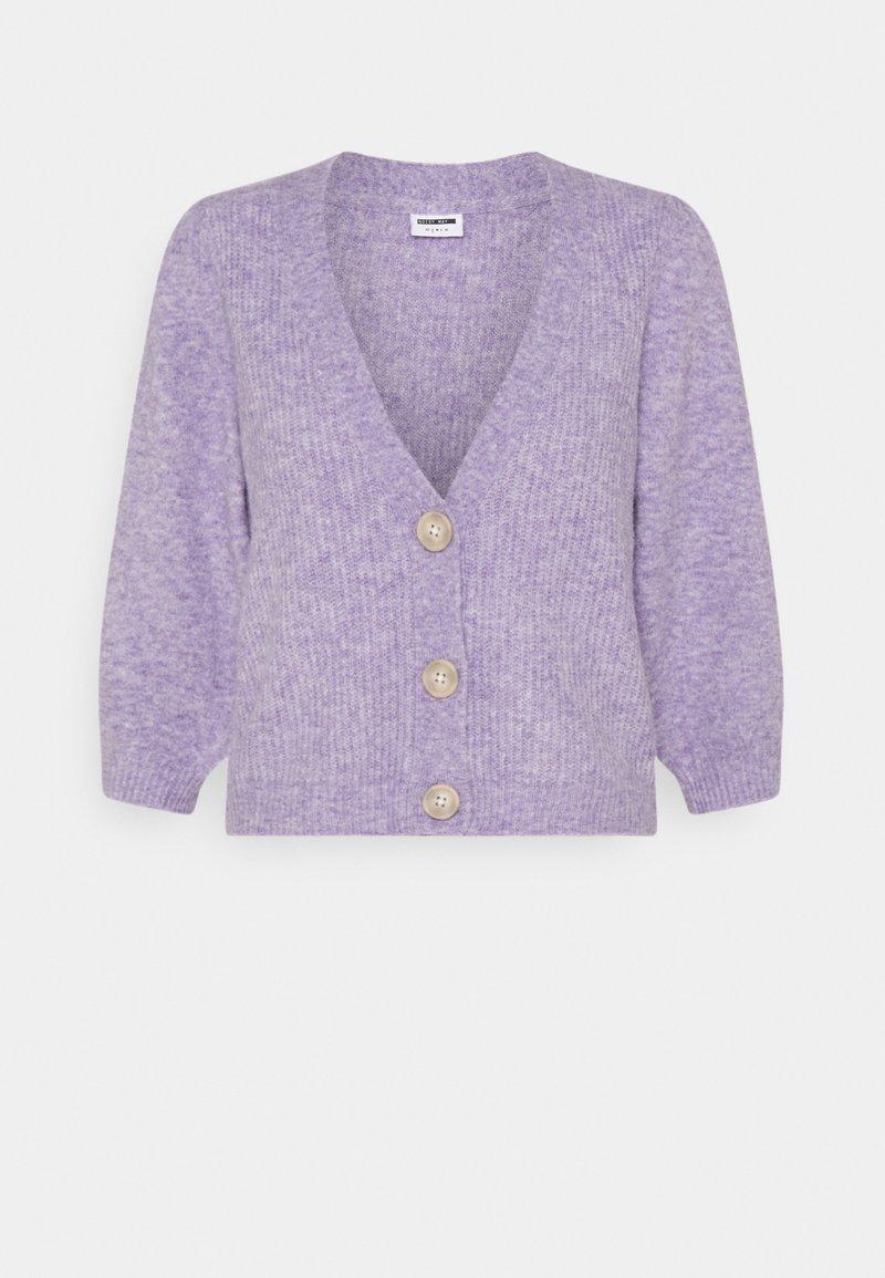 Noisy May - NMLILJE V NECK CARDIGAN - Cardigan - pastel lilac