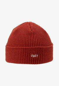 Obey Clothing - HANGMAN BEANIE - Čepice - brick red - 4