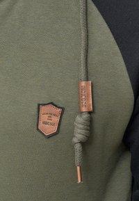 INDICODE JEANS - ARBUTUS - Zip-up hoodie - army - 4