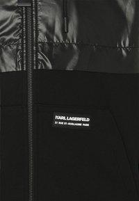 KARL LAGERFELD - HOODY JACKET - Summer jacket - black - 2