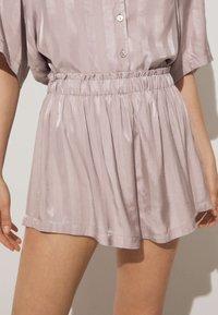 OYSHO - JACQUARD - Pantaloni del pigiama - mauve - 0