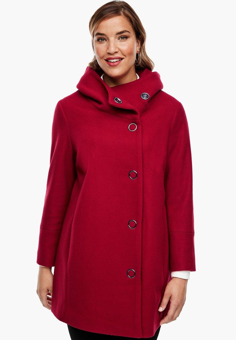 Triangle - Short coat - dark red